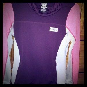 Pink, XS Turtle neck sweater jacket